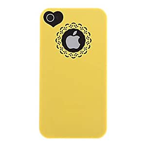 ZCL Hollow Sweet Heart Hard and Circle Back Case + Screen Film for iPhone 4/4S(Assorted Color) , Blue