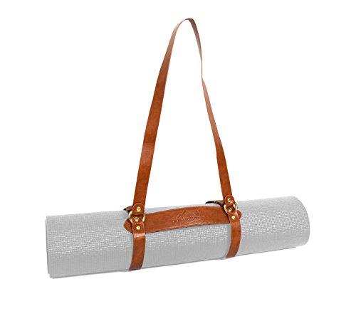 Open Road Goods Vegan Leather Yoga Mat Carrier Sling/Adjustable Blanket Strap