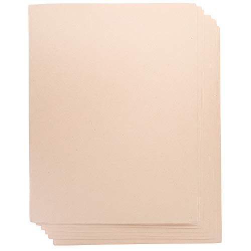 Juvale 100-Count Japanese Kraft Paper Stationery Sheets for Crafts, and Scrapbooking, Printer Friendly, Pastel Peach, 8.5 x 11 Inches ()