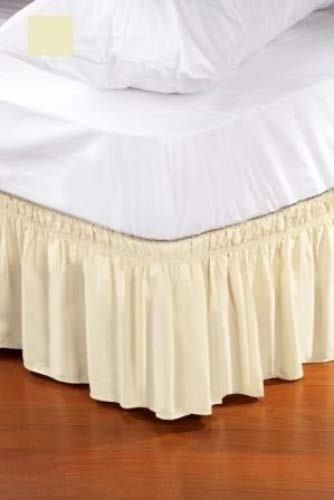 Kennedy Home Collection Dust Ruffle Bed Skirt, Queen/King, Ivory