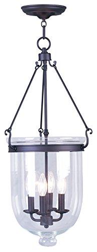 (Livex Lighting 5065-07 Jefferson 4-Light Hanging Lantern, Bronze)