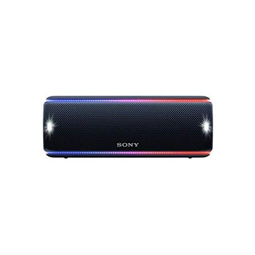 Sony SRSXB31B Altavoz portátil Bluetooth Extra Bass Modo Sonido Live Party Booster Luces de Fiesta llamativas Conector USB para Cargar Smartphone Color Negro