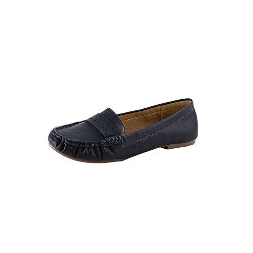 HSM schuhmarketing Lisanne Comfort Mujer Mocasines, Negro - Negro, 39 Euros: Amazon.es: Zapatos y complementos