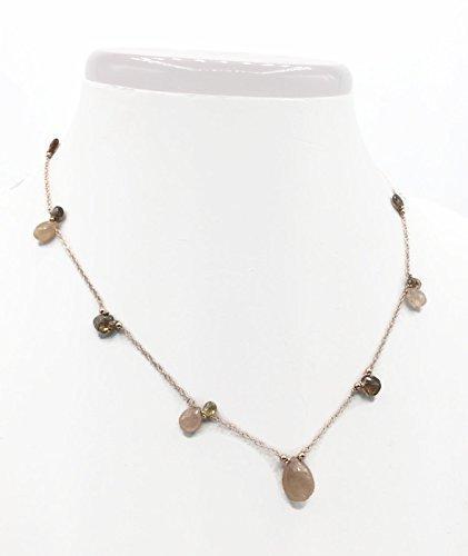 Precious Sapphire Stone Pink (14k Rose Gold Pink Sapphire Necklace | Designer Gemstone Choker | Unique Handmade Jewelry Gifts | 18 Inch)