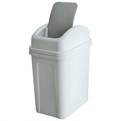 Teyyvn 7 Liter / 1.8 Gallon Plastic Trash Can, Small Garbage