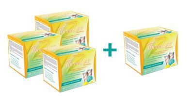 4 BOXES THREELAC PROBIOTIC, 240 Packets (Four Pack) by GHT Global Health Trax Inc.