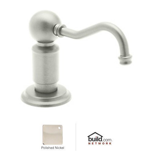 Rohl LS850PPN Luxury Soap/Lotion Dispenser with One Touch System to Match Perrin and Rowe, Polished Nickel by Rohl by Rohl (Image #1)