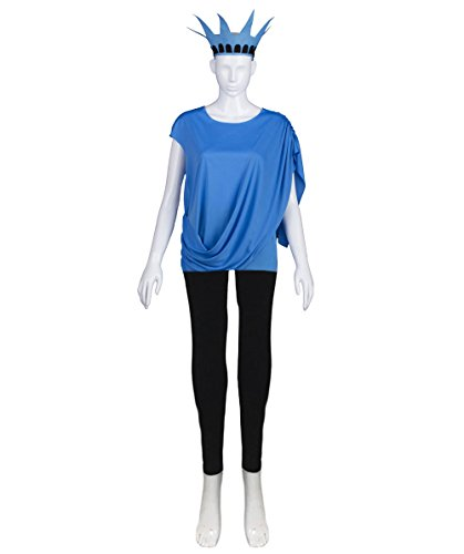 Halloween Party Online Miss Statue Of Liberty Independence Costume, Blue Adult (S) (Adult Miss Independence Costumes)