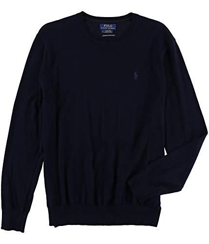 (Polo Ralph Lauren Men's Merino Wool Crew Neck Sweater, S, Hunter)