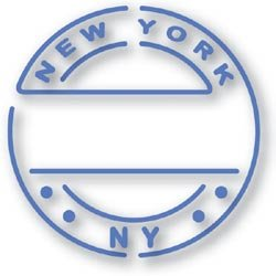 Sizzix Simple Impressions Die & Folder POST NEW YORK - Sizzix Simple Impressions Folder