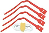 LINDY 300mm Hook and Loop Cable Tie, 10 Pack, Red (40796)