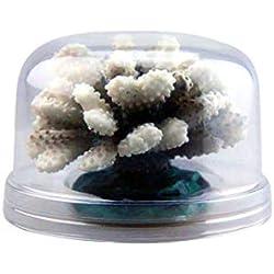 Aquarium Fish Tank Decorations Luminous Flowers Coral Decoration Aquarium Landscape Resin Coral Aquatic Decor for Salt and Fresh Water (♥ Gray)