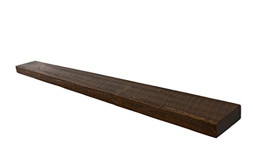 "60""w X 6""d X 2""h, Rustic, Floating Wood Shelf, Pine, Antique"