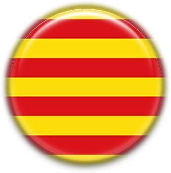 Cataluña : Bandera Comunidad Autonoma Española, Pinback Button Badge 1.50 Inch (38mm): Amazon.es: Oficina y papelería