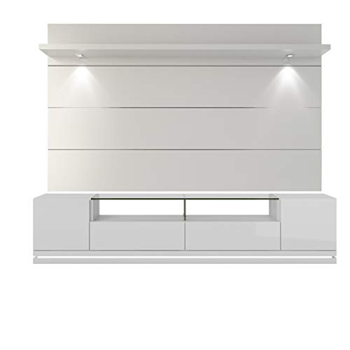 - 2-Pc Theater Center in White Gloss Finish