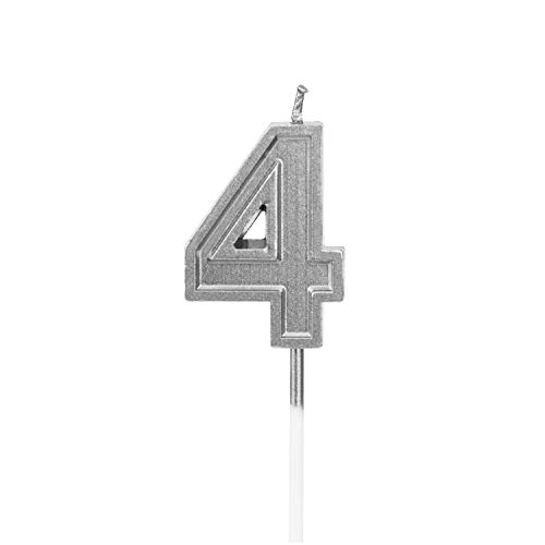 number 4 birthday candle - 4