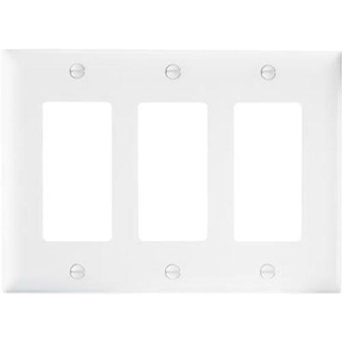PASS & SEYMOUR TP263WCC12 WHT 3G Nyl Wall Plate (5) ()