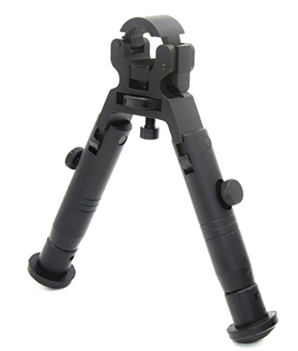 JINSE Bipod Dragon Claw Clamp-on Folding Low-Profile 5.1 Inches Bipod Wheel Size 11mm to 19mm