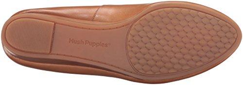 Hush Puppies Donna Dot Ammiri Zeppa Pompa In Pelle Marrone Chiaro
