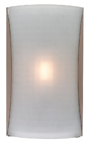 - Access Lighting 62050LED-BS/CKF Radon LED Light Wall Sconce with Checkered Frosted Glass Shade, Brushed Steel Finish