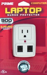 Prime PB004130 900-Joule Lap Top One Outlet Surge Protector, ()