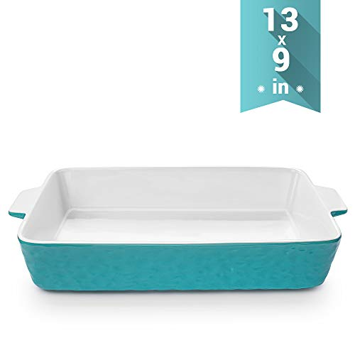 Baking Dishes, Krokori Rectangular Bakeware Set Ceramic Baking Pan Lasagna Pans for Cooking, Kitchen, Cake Dinner, Banquet and Daily Use, 13 x 9 Inches