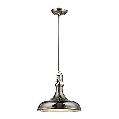 Elk Lighting 57051/1 Ceiling-Pendant-fixtures, Nickel