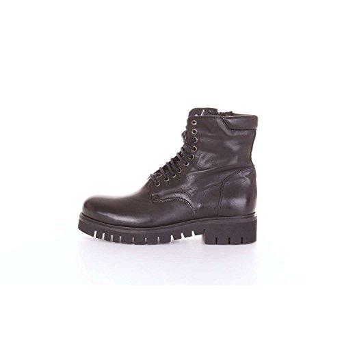 DEI COLLI Amphibious Fabbrica of Collars 2STEEL201 Black Leather Black