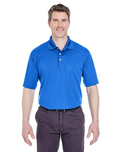(UltraClub Men's Cool & Dry Stain-Release Polo Shirt, ROYAL, Large)