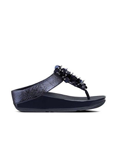 Sandales Bleu Boogaloo Femme Post Toe Midnight Navy Noir FitFlop Plateforme 399 n4Z1nx