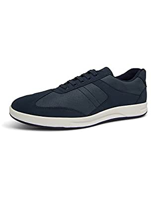 Marc Loire Men Casual Lace-Up Shoes, Faux Leather Sneakers - Blue, Size - Euro44_UK/IN10 - ML0075120344