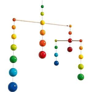 HABA Nursery Room Wooden Mobile Rainbow Balls (Made in Germany)