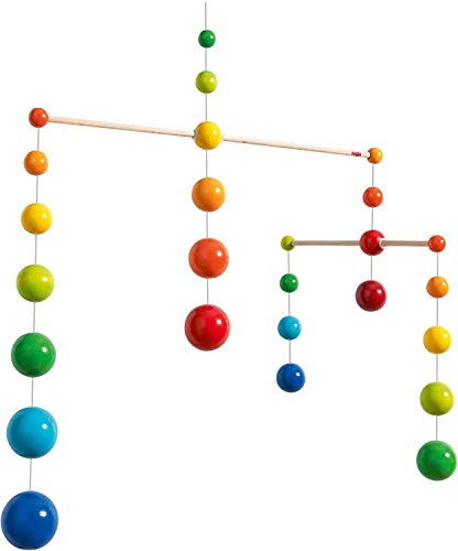 (HABA Nursery Room Wooden Mobile Rainbow Balls (Made in Germany))