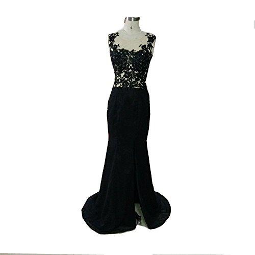 Amazon.com: Snow Lotus Womens Long Black Lace Chiffon Mermaid Prom Dresses: Clothing