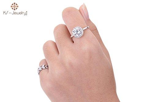 [KS-Jewelry Diamond-CZ Ring Katia Pellets Chu Shoulders side Medium 3Carat Beauty Diamonds-RS010] (Hammer And Nail Halloween Costumes)