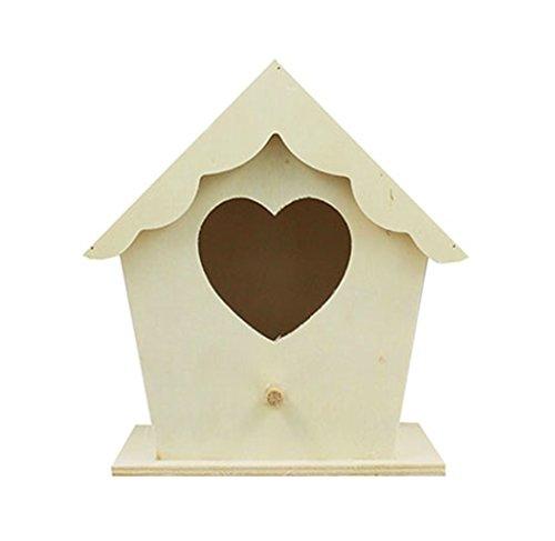 Wooden Bird House Nest Hotel Home Nesting Box Garden Feeding Station Box Crafts By Accessories Attic®