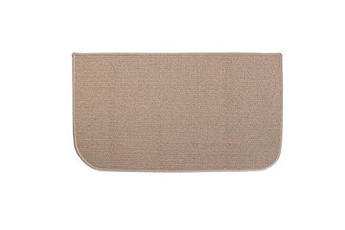 (Ritz Accent, Stain Resistant Kitchen Floor Rug, with Non Slip Latex Backing, 18-inch by 30-inch, Beige)