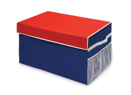 Badger Basket Large Folding Storage Box, Blue/Red from Badger Basket