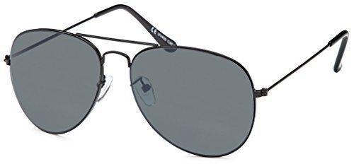 BEZLIT Pilotenbrille Police Sonnenbrille Herren Sunglasses Sonne Brille B505, Rahmenfarbe:Schwarz;Linsenfarbe:Schwarz