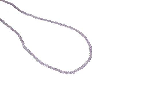 - Amethyst Faceted Rondelle Purple Beads Gemstone 3 to 3.5mm AA Necklace