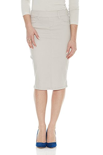 Esteez Womens Stretch Denim Knee Length Jeans Skirt - Brooklyn