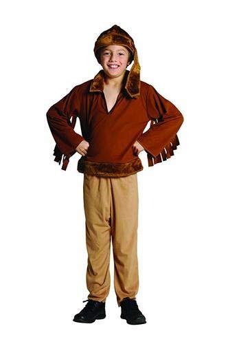 Clark Halloween Costume (RG Costumes Frontier Boy Costume, Brown,)