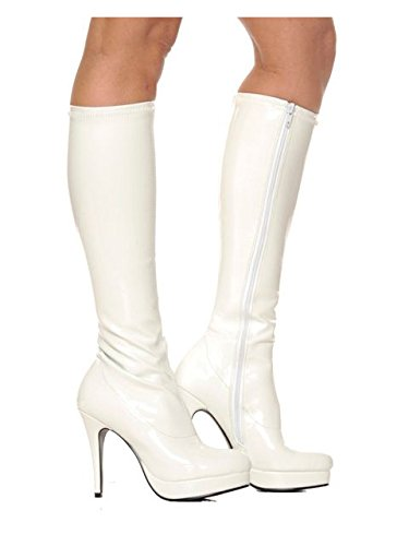 Women's Shoes 4 Inch Knee High Boots With Zipper