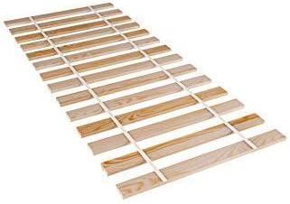 somier 90x200 sin patas - lamas somier enrollable cama de madera de abeto para adultos y niños no ajustable