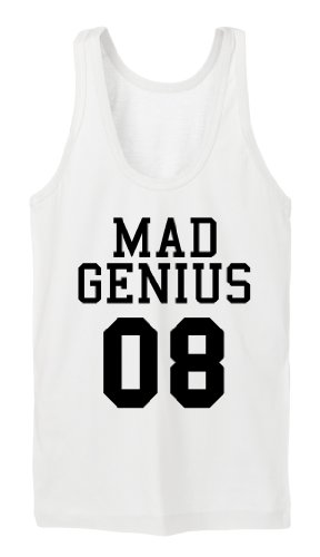 Mad Genius Tanktop Girls Bianco