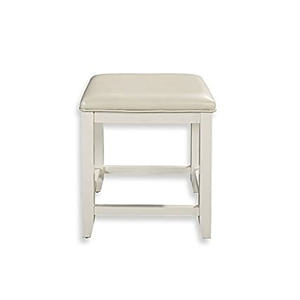 Fabulous Amazon Com Vista Vanity Stool In White Kitchen Dining Alphanode Cool Chair Designs And Ideas Alphanodeonline