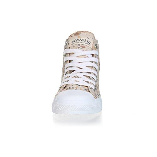 Ethletic Sneaker Vegan Hicut Collection 18 - Farbe Terrazzo Caramel/White Aus Bio-Baumwolle