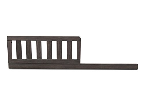 Serta Toddler Guardrail and Daybed for 3-in-1 Cribs Rail Kit, Rustic Grey