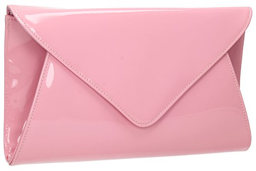 Evening Envelope Clutch Flapover Juliet Bridal Prom Party Womens Pink Leather New Patent Bag wRqwzHXTa