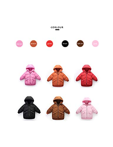 Children Fashion Brown Unisex Children Cotton Outerwear Outdoor Winter BESBOMIG Jacket Hooded Coat Clothes Zipper Light 5RfBnqwH